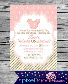 DIGITAL printable minnie wonderland - winter onderland  by PixelDoodleStudio on…