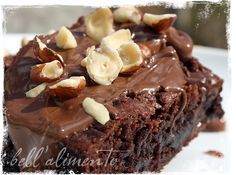 Nutella Caramel Hazelnut Brownies!  Four best words EVER!