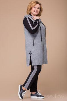 Спортивный костюм Svetlana Style 1212 серый с черным - Женская одежда