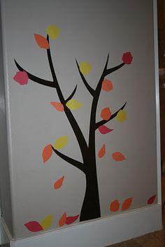 I would like to do this, but with Puzzle pieces for leaves instead for Autism month.