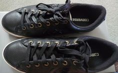 CONVERSE SHOES SNEAKERS SPORT LEATHER BLACK BOX PERFECT  #Converse #AthleticSneakers