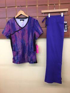80d0baf2043 NEW Purple Print Scrub Set With Koi Large Top & Grey's Anatomy L Petite  Pant NWT #fashion #clothing #shoes #accessories #uniformsworkclothing # scrubs (ebay ...
