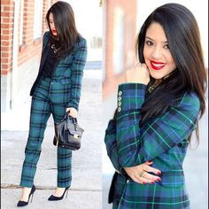 Matching Plaid Blazer & Pants Only worn for photos. Selling these pieces together as a set. If you prefer to purchase only one of these please let me know. Blazer size 0. Pants size 2. Tommy Hilfiger Other