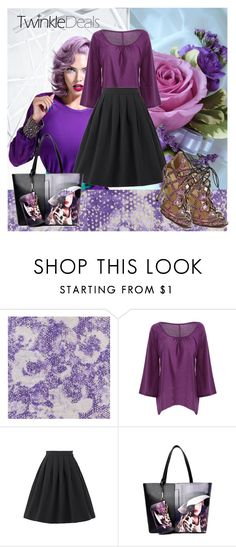 """""""TwinkleDeals FASHION !"""" by jasmine-monro ❤ liked on Polyvore featuring L'Oréal Paris, skirt, sandals, bag, top and twinkledeals"""