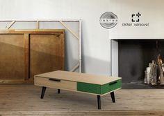 table basse Paul (chêne et textile) édition Dasras