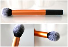 Real Techniques contouring brush- temptalia said work good for contouring esp. with cream product, but also for highlighting. And applying cream blush