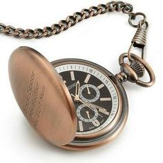 Create your own Personalized Satin Bronze Pocket Watch. Find and customize a variety of personalized gifts like this and more at Things Remembered. Bronze Anniversary Gifts, 8th Wedding Anniversary Gift, Anniversary Ideas, Bronze Gifts, Great Birthday Gifts, Pocket Watches, Wrist Watches, Satin, Material Things