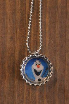 Disney Frozen Olaf Bottle Cap Necklace! https://www.etsy.com/listing/181847505/disney-frozen-bottle-cap-necklaces-elsa?ref=shop_home_active_1