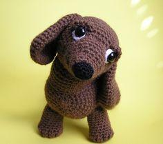 Pdf Crochet Pattern OSCAR the WEINER DOG by bvoe668 on Etsy