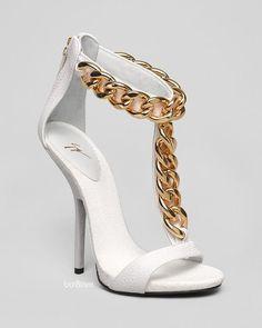 sismaxina: Giuseppe Zanotti T Strap Chain Platform Sandals - Alien High Heel