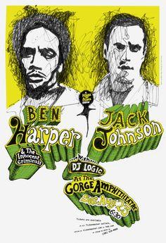 Ben harper Jack Johnson poster