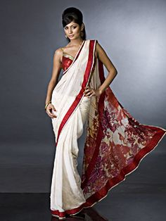 Lovely Saree by Sathy Paul and i love the delicate blouse strap and all the pattern on the pallu