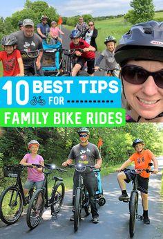 10 Best Tips for Family Bike Rides - Biking with Kids / Biking with young children / bike trailers / bikes / family Bike Riding Tips, Riding Bikes, Bike Ride Quotes, Barbie Bike, Bike With Training Wheels, Child Bike Seat, Kids Bicycle, Dog Bike, Bicycle Workout