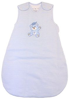 Baby Sleeping Bag Blue and White Stripes, Winter Model, 2.5 Togs, (Medium (10 - 24 mos)) - $31.95