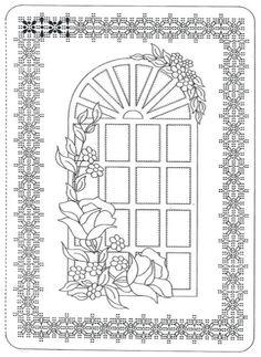 Pergamano šablony - free pattern