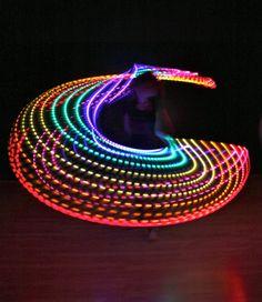 LED rainbow hula hoop .. So fun!