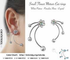Small Flowers, Crystals, Earrings, Color, Jewelry, Products, Ear Rings, Colour, Jewellery Making