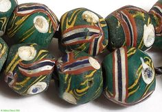 Venetian glass beads | Wound and decorated | Traded into Africa ca. late 19th to mid 20th century | 350$ for a matched strand containing 61 beads