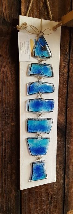 Resultado de imagem para fused glass fish  May be interesting to use water bottle pieces to recreate this