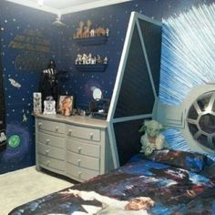 Star Wars Bedroom Ideas Wallpaper And Toys And Bedding And Amazing Plane…