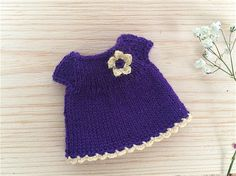 Hey, I found this really awesome Etsy listing at https://www.etsy.com/listing/259104902/miniature-purple-dress-with-crochet