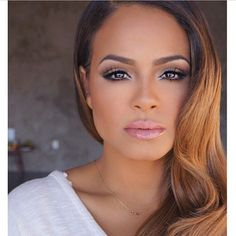 Christina Milian Celebrity Flawless Makeup Black Beauty African American Women Woman Ombre Blonde Hair Style