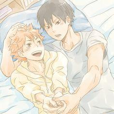 Haikyuu!! ~~ Horizontal practice, boys? :: Kageyama and Hinata