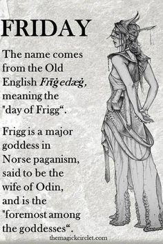 When looking into Norse mythology I found Frigg, she seems interesting but not really useful to my project. Although I do like her head piece.