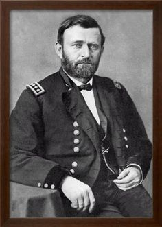 Buyenlarge General Ulysses S. Grant Photographic Print on Wrapped Canvas Size: x American Civil War, American History, American Presidents, Vintage Prints, Vintage Art, American Gladiators, Ulysses S Grant, Art Grants, Poster Design Inspiration