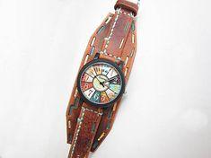 leon / Dámske hodinky, hnedý kožený remienok