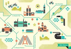 Brent Couchman and Ty Wilkin collaborated on this map of São Paulo for Monocle