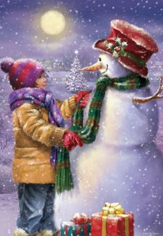 Winter Christmas Scenes, Christmas Scenery, Christmas World, Christmas Artwork, Old Fashioned Christmas, Christmas Paintings, Christmas Bells, Xmas Ornaments, Christmas Pictures