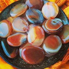 Carnelian Palm Stones - For Stamina, Courage, Strength & Fire Magic - Sage Goddess