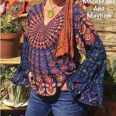 FAB NEW PEACOCK MANDALA TUNIC TOP UK SIZE 10 12 16 18 BOHO HIPPIE FESTIVAL YOGA