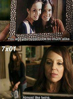 PLL season 7 Mary Drake twin comment #PLL