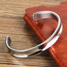 Silver Hair Tie Bracelet Stainless Steel Bangle