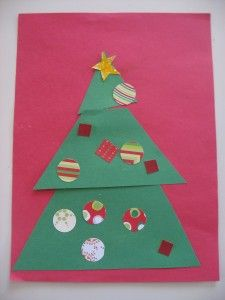 Learn about shapes!! Christmas Tree Craft - No Time For Flash Cards