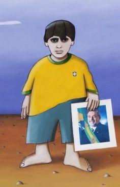 "Pintura ""O Menino que Pensava Grande"" (2010), do artista plástico Gustavo Rosa"