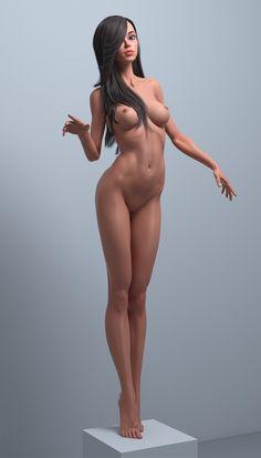 Cartoon cute girl by Roman Adamanov | Cartoon | 3D | CGSociety