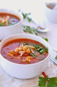 Fabryka Kulinarnych Inspiracji: Marokańska zupa z kurczakiem i cieciorką