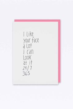 I Like Your Face Card - Urban Outfitters
