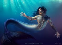Want to discover art related to merfolk? Check out inspiring examples of merfolk artwork on DeviantArt, and get inspired by our community of talented artists. Fantasy Images, Fantasy Artwork, Magical Creatures, Sea Creatures, Fanart, Water Nymphs, Fantasy Fiction, Fantasy Heroes, Mermaids And Mermen