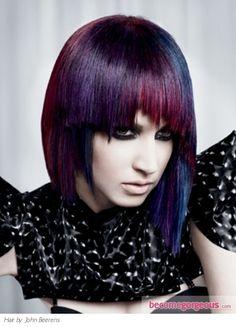 Purple Scene Hair Style