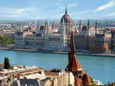 bird's eye view of Budapest, Hungary #Europe #travel