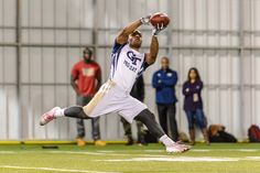 Darren Waller showcased his pass-catching abilities for the NFL scouts. #GTProDay 2015 by Georgia Tech Athletics