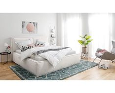 Polsterbett be consulted in Cozy Dorm Room, Cute Dorm Rooms, Cozy Bedroom, Bedroom Decor, Minimalist Bedroom, Modern Bedroom, Farm House Colors, Upholstered Beds, Beautiful Bedrooms