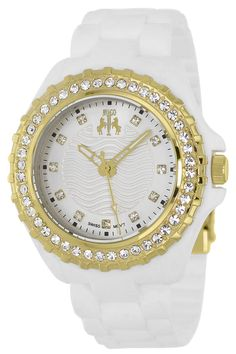 White watches are so elegant, especially on this Jivago woman\'s watch!