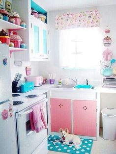 Cupcake kitchen. Too cute! exactly like this so if any of you wanna on coffee themed kitchen ideas, popular kitchen theme ideas, themed kitchen decor, themed bedrooms, shop kitchen theme ideas, kitchen color theme ideas, victorian kitchen theme ideas, themed dining room ideas, kitchen motif ideas, themed kitchen rugs, kitchen theme design ideas, themed kitchen design,