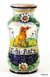Tuscan style Wolf Vase