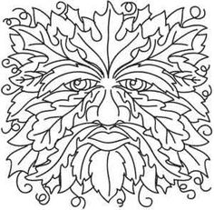 green man coloring pages - photo#28